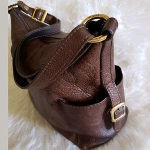 Valentina Italy Boho Handbag Brown